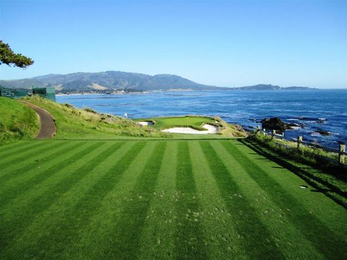 Tee Box For Number Seven Green At Pebble Beach Tee Box