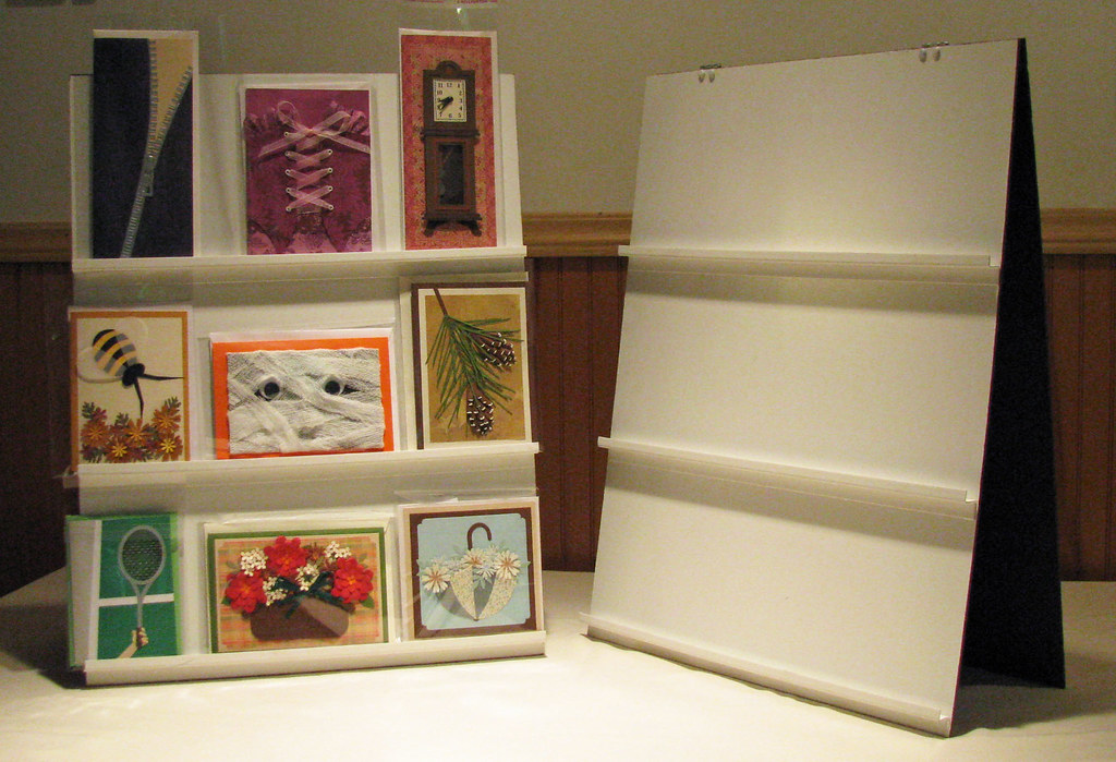 Tabletop Card Display Cheap And Easy Made From Thin