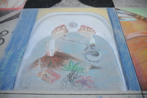 Completed chalk drawing at Broome Library's 2008 Artwalk | by California State University Channel Islands