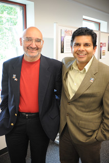 Former Dean of the library, Paul Adalian, and Dean of Faculty Affairs, Ashish Vaidya, at the 2008 Library Award's Dinner. | by California State University Channel Islands