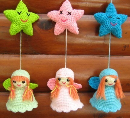 Little Angels Mobile Crochet mobile made with pattern ...