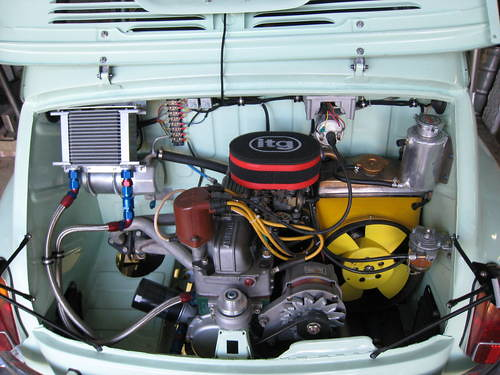 Fiat Abarth 1000cc Based On Fiat 600 1961 Engine Car And