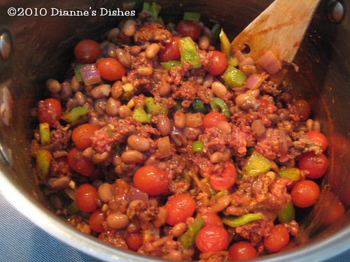 Snowy Day Chili: Ready for Diced Tomatoes | by Dianne's Dishes