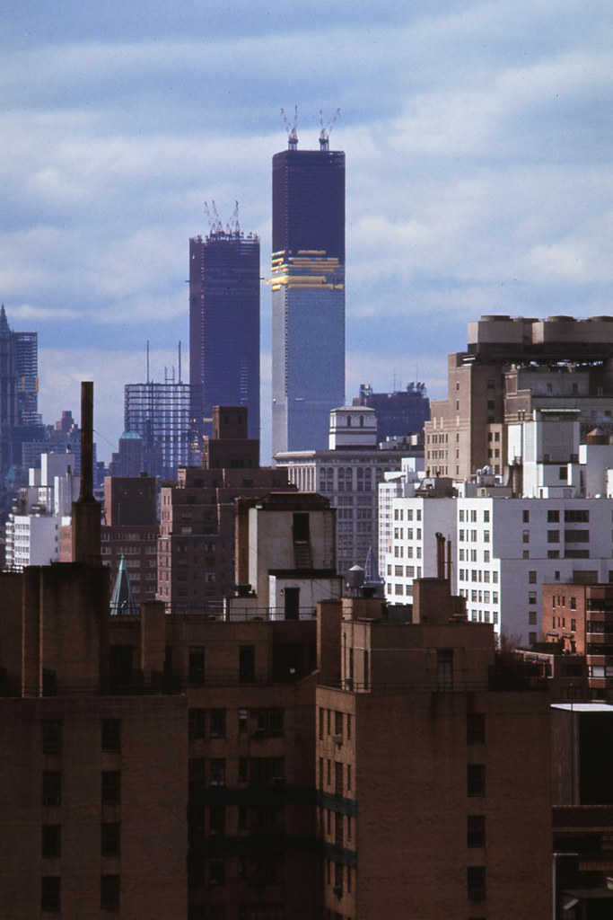 World Trade Center Under Construction April 1971 Flickr