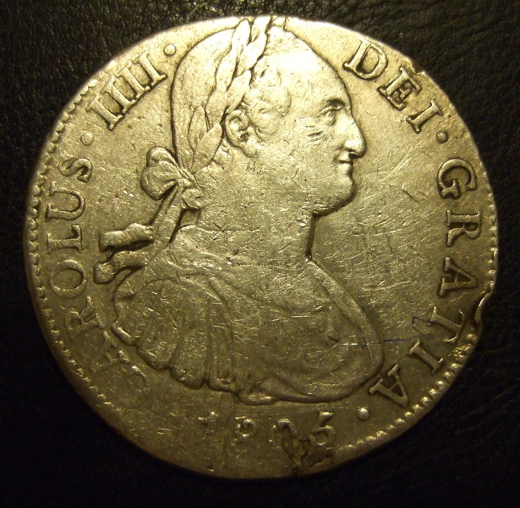 Spanish Piece Of Eight Carlos Iv Mexico Mint 1805 8 Re Flickr