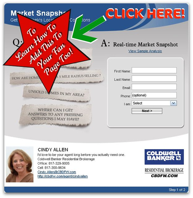 how to add market snapshot to facebook fan page how to add flickr. Black Bedroom Furniture Sets. Home Design Ideas