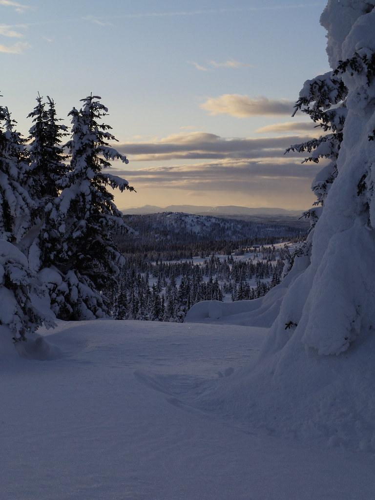 Framed View From Winter Camp Veslehaugen Oyer Fjellet