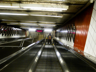 In Manhattan - into the depths of the 53rd st station escalator | by Dan Nguyen @ New York City