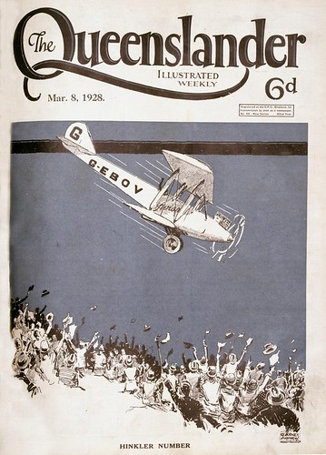 Illustrated front cover from The Queenslander March 8, 1928 | by State Library of Queensland, Australia