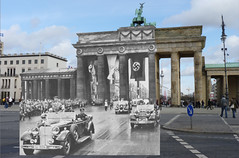 Adolf Hitler at the Brandenburg Gate (Brandenburger Tor), Berlin - August 1st 1936 - Opening of the Summer Olympic Games - Looking Into The Past | by Gordon Calder - 4 million views