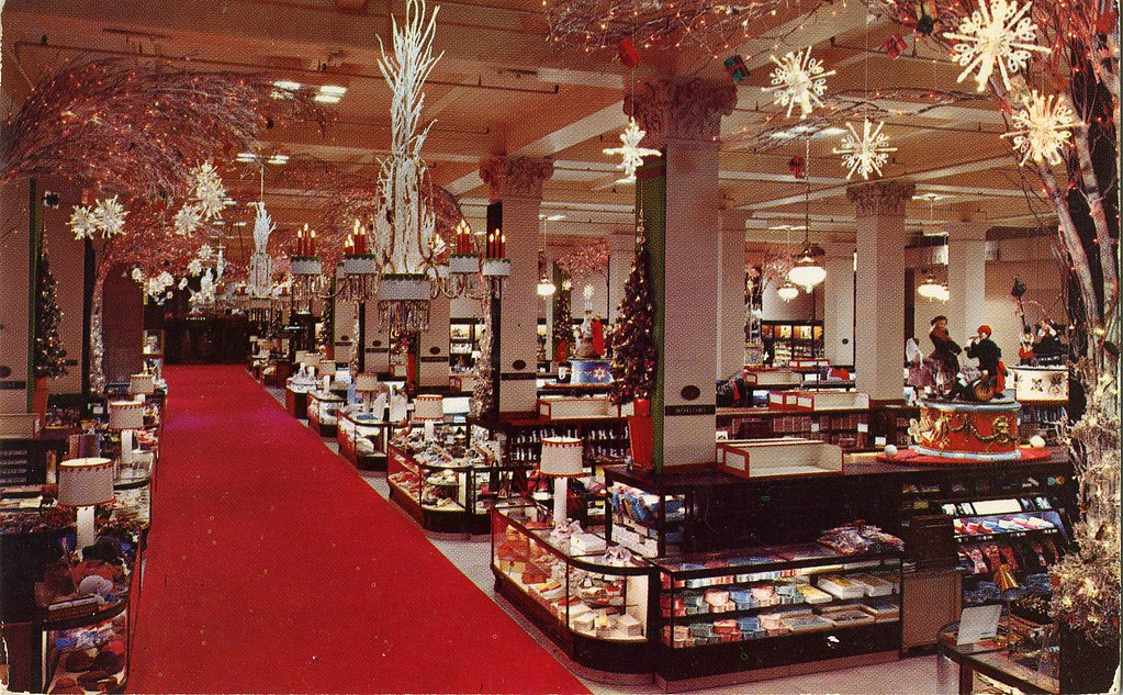 Woodward lothrop department store main aisle christmas w for The christmas store