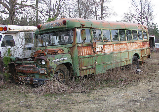 1959 Chevrolet Thomas Bus | Very old Thomas body bus, with ...