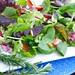 springtime fresh strawberry and beet salad with rosemary -lemon vinaigrette