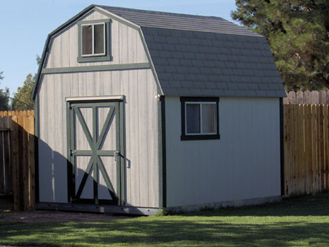 Premier Tall Barn 10x12 Options Shown Paint Windows