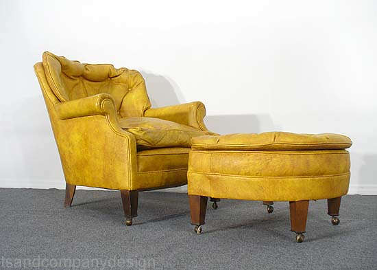 my yellow leather chair + ottoman | Brie | Flickr