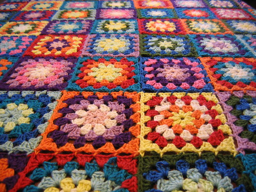 Granny square blanket close-up | by Anna_K.pictures