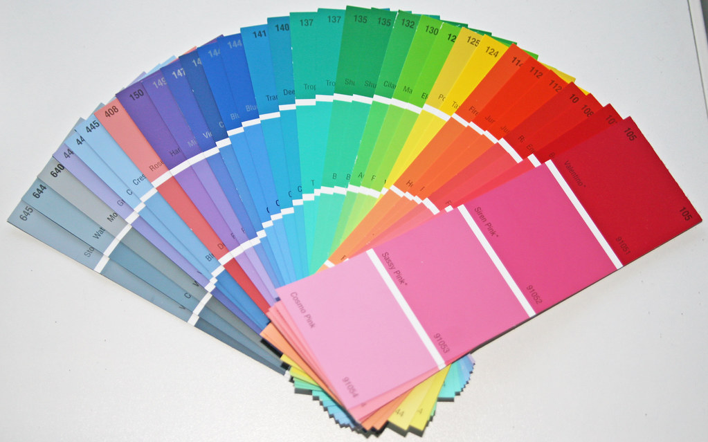 rainbow colored paint samples blogged here veebhu flickr