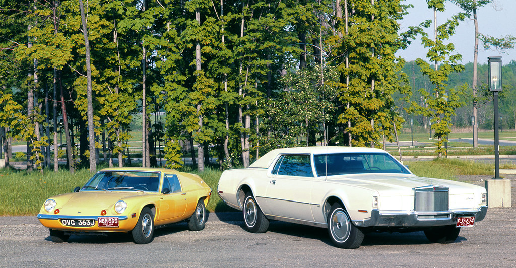 Lotus europa s2 and lincoln continental mark iv 1972 2 flickr