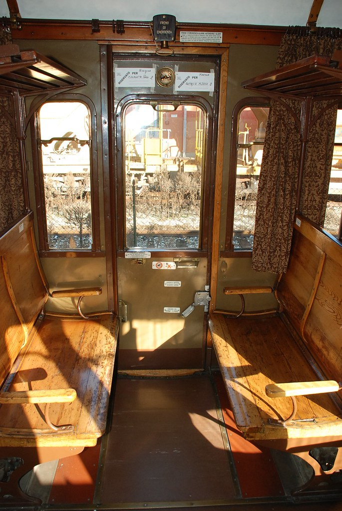 Historic train carriage in Italy - interior | Finding