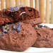 Chocolate Lava Cookies with Candied Violets