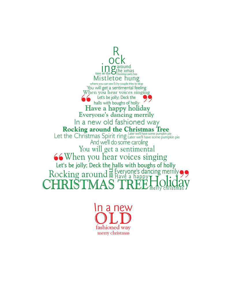 Christmas tree typography christmas card design with this flickr christmas tree typography by robhowells87 christmas tree typography by robhowells87 m4hsunfo Image collections