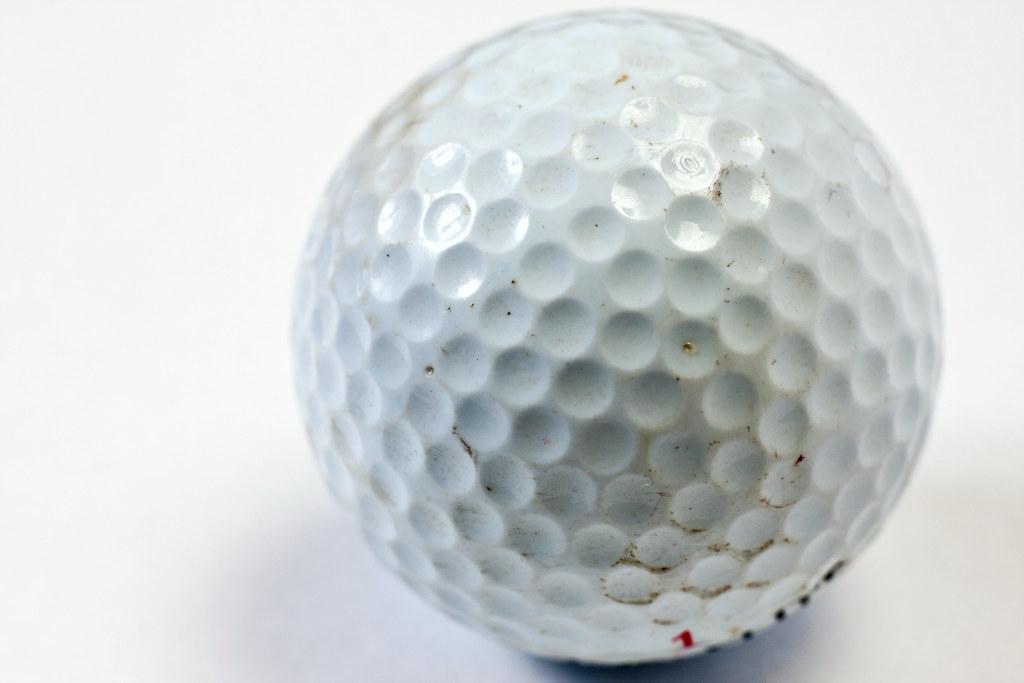 Golf Ball Finder >> Macro of scratched and dirty white golf ball   Macro shot ta…   Flickr