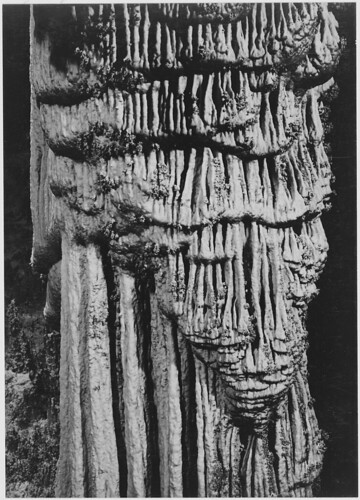 """The Chinese Pagoda, 'Big Room,' detail, Carlsbad Caverns National Park,"" New Mexico. (vertical Orientation) 