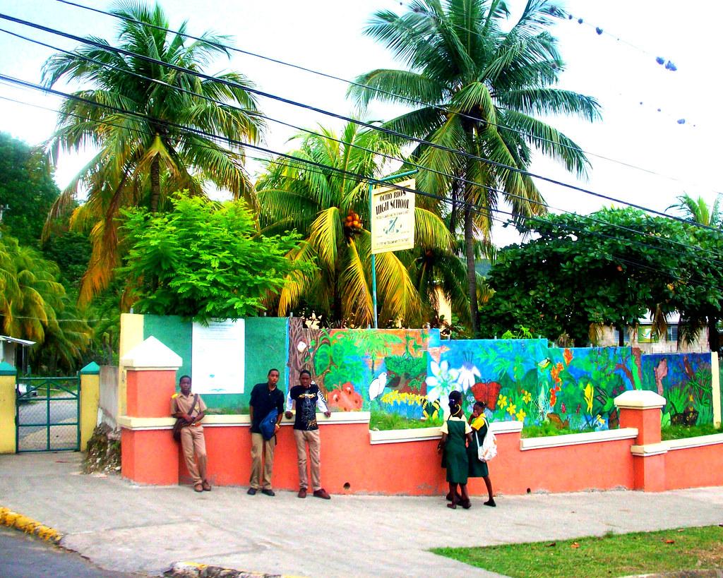 Kids At Ocho Rios High School C Dot Flickr