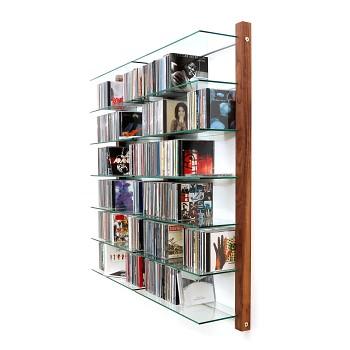 cd shelf walnut wood cd regal nussbaum wall mounted cd. Black Bedroom Furniture Sets. Home Design Ideas