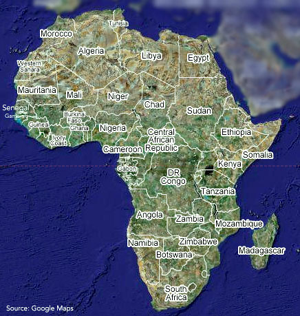 continent of africa, continent of Africa / google maps   Flickr