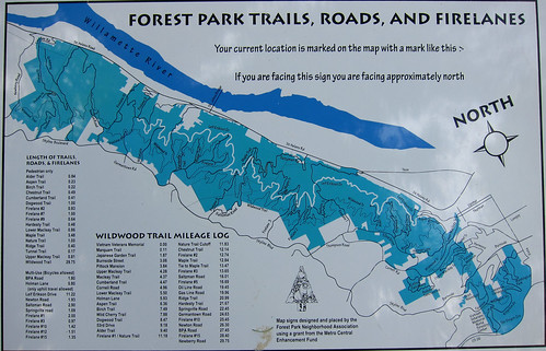 Forest Park Trail Map | by pereiracycles