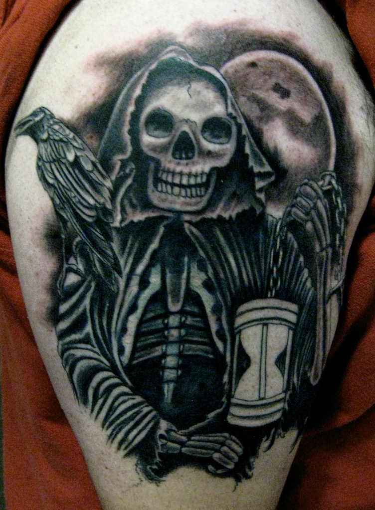 Steve Gagliano Tormented Souls Grim Reaper With Hour Glass