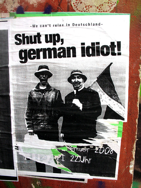how to say in german shut up
