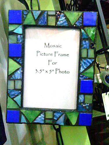 Stained glass mosaic frame. | LeAnn | Flickr