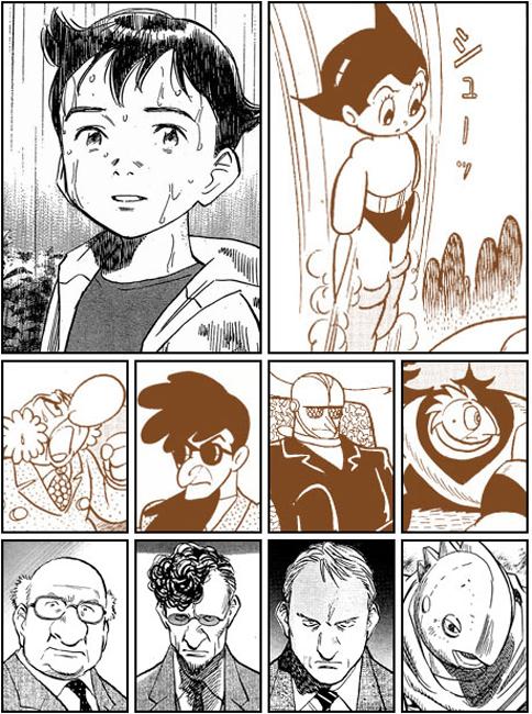 100327 - 相隔39年的手塚治虫×浦澤直樹《PLUTO ~冥王~》總共10位主角人物造型一覽比較!