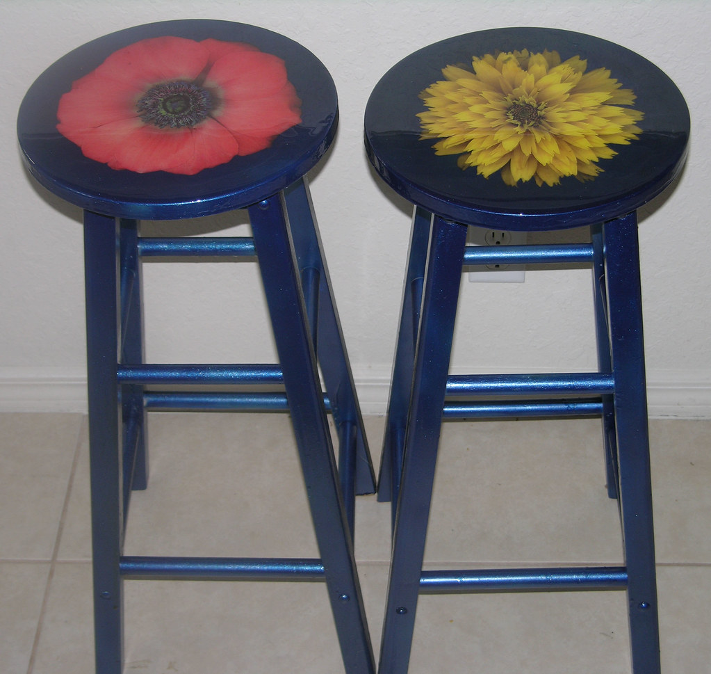 Painted Wooden Stool ~ Wooden bar stool after quot high