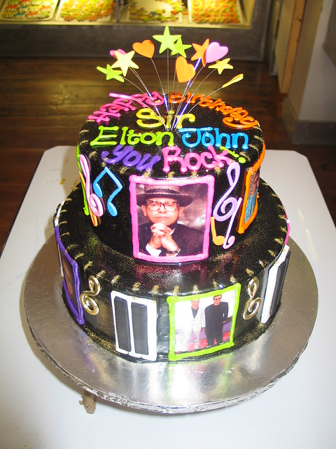 Birthday Cake For John : Sir Elton John s birthday cake Flickr - Photo Sharing!
