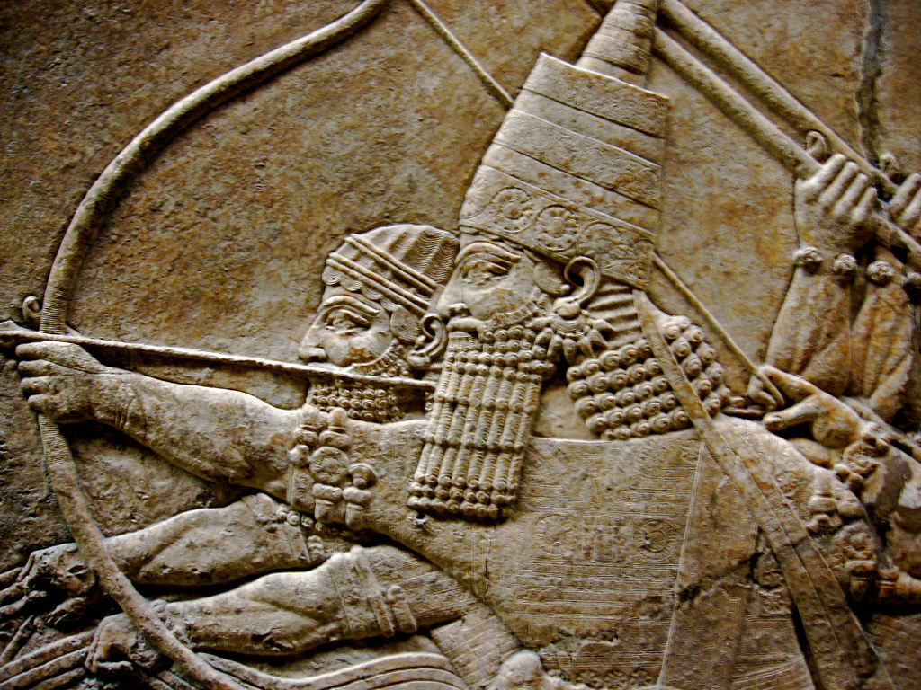 Mesopotamian bas relief detail alan russell flickr