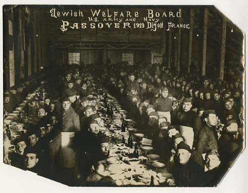 U.S. Army and Navy Passover in Dijon France, 1919 | by Center for Jewish History, NYC