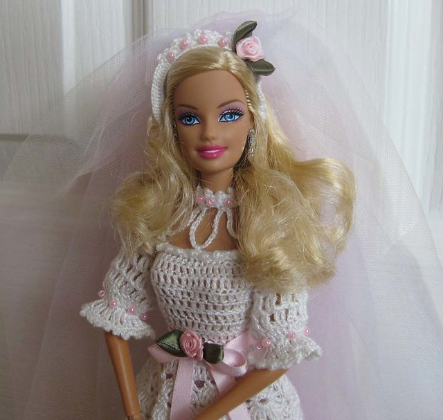 Barbies wedding veil Crocheted head piece and tulle ...