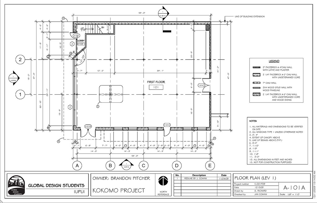 Kokomo level one floor plan art 222 commercial for Commercial building floor plans free