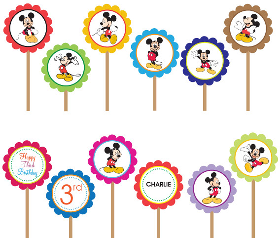 Disney Mickey Minnie Mouse Printable Diy Custom Party Cir
