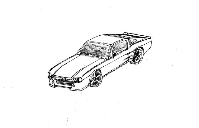 How to Draw a Ford Mustang 9 Steps with Pictures  wikiHow