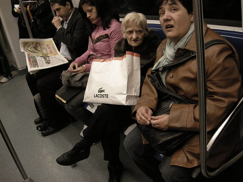 Lacoste in the Metro. | by Maria Agrell
