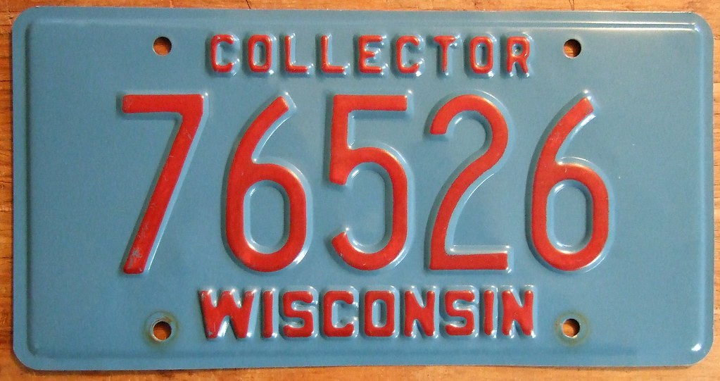 "License Plate Camera >> WISCONSIN ---COLLECTOR CAR LICENSE PLATE | Jerry ""Woody ..."