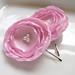 Light Pink Satin Flower Hair Pins