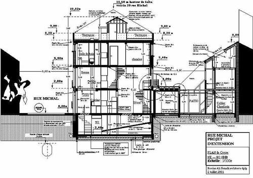 Coupe longitudinale 1 hocinealibenali flickr for Architecte 3d plan de coupe