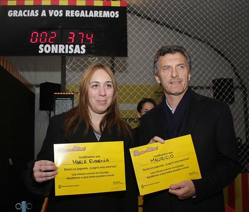 Macri y la ministra vidal en el lanzamiento de un for Comedores escolares caba