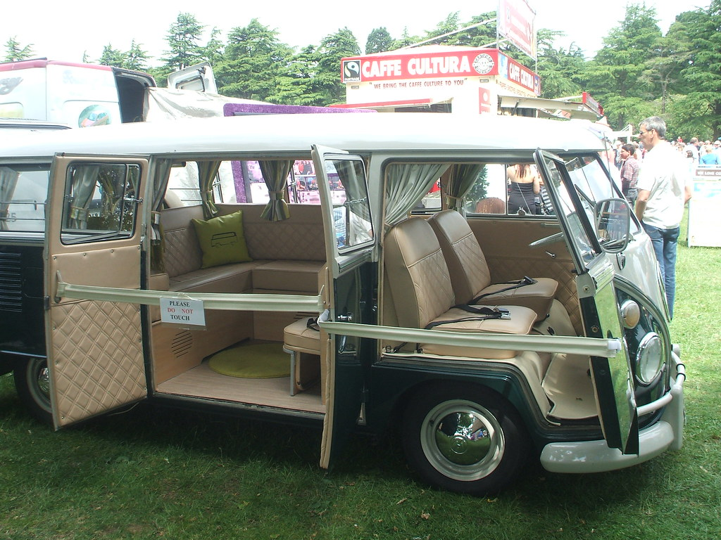 Restored Vw Camper Van Dating From 1966 And Seen At The