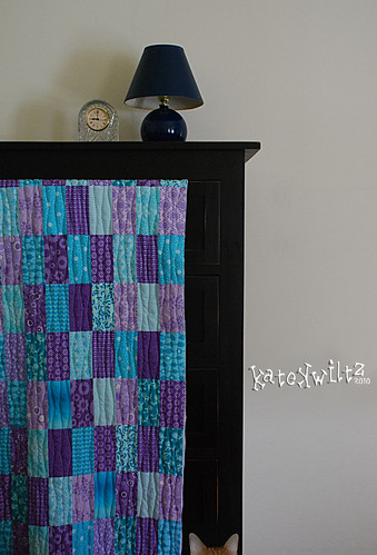 Purple Turq front (sans binding) | by Kate Kwiltz
